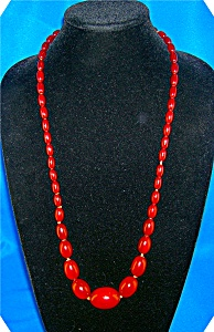 Antique CARNELIAN Graduated Bead Necklace (Image1)