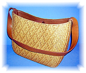 Fossil Tan Woven Leather Purse