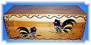 Recipe Card Box -  Rooster - Wooden Box (Image1)