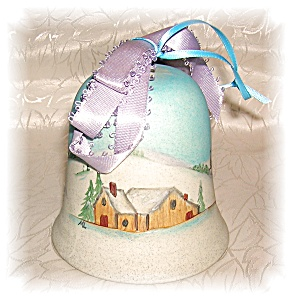 Pottery Bell Handpainted 1985 Signed (Image1)