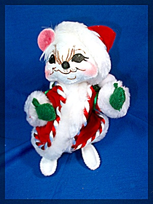 Annalee 6 Inch Peppermint Santa Mouse - 2007