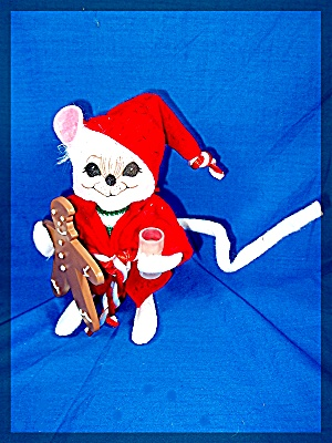Christmas  Annalee Cookie and milk Mouse  (Image1)