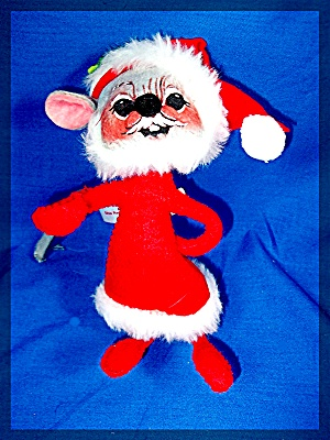 Christmas Mouse Ornament Annalee 1965 Usa