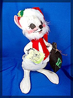 Christmas Annalee Mouse With Tag 1971 Usa
