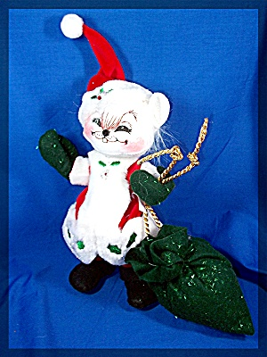 Christmas Annalee Winterberry Santa Mouse 2005 (Image1)