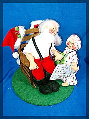 Christmas Annalee Santa with tags 1986 (Image1)