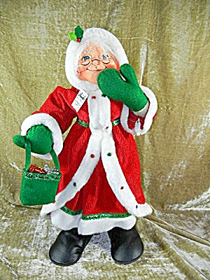 Christmas Annalee Mrs Santa with tag 18 inches  (Image1)