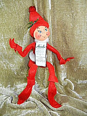 Christmas Annalee 14 Inch Chrismas Elf Red With Tags