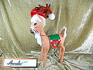 Christmas Annalee 18 inch Peppermint Reindeer  (Image1)