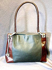 Brighton Black And Brown Leather Bag