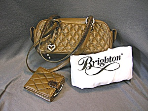 Brighton Bijoux Quilted Leather Wallet Purse