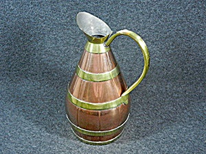 Copper & Brass Pitcher Garanti Villedieu France (Image1)