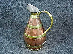 Copper & Brass Pitcher Garanti Villedieu France (Image1)