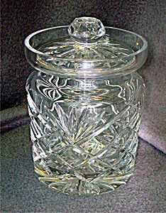 Gorham Crystal Clear Biscuit Barrel, w/ Lid Monte Carlo (Image1)