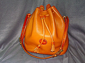 Dooney & Bourke Leather Bucket Drawstring Bag