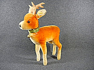 Steiff Vintage Buck Deer Mohair  12 inches with Bell (Image1)
