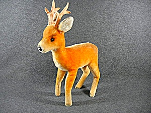 Steiff Vintage Buck Deer, 12 Inches With Button