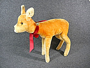 Steiff Vintage Doe Deer Mohair 50s 12 Inches