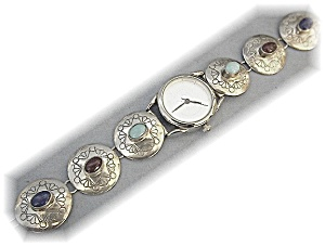 Native American Accutime Watch Sterling Silver Band (Image1)