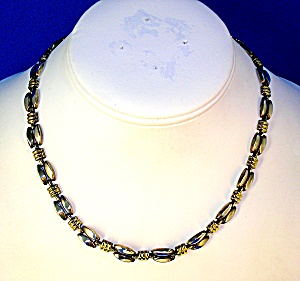 Sterling Silver Gold Necklace Italy