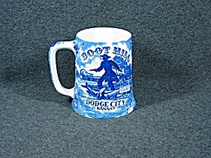 Boot Hill Mug Blue Transfer Ware by Staffordshire Ware (Image1)
