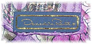100% Silk Scarf Oscar De La Renta  (Image1)