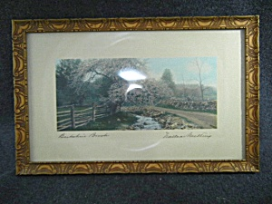 Wallace Nutting Print A Berkshire Brook Signed