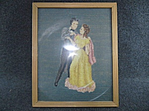 Cross stitch Couple Dancing Framed  (Image1)