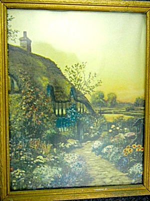 Ann Hathaway's Cottage Print Framed