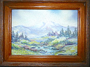 Artist Signed Oil Painting, Framed, Toniska