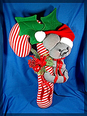 Christmas Candy Cane with Mouse Decoration (Image1)