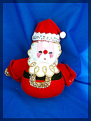 Christmas Santa Claus  red felt with sequins 7 inch (Image1)