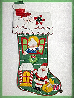 Christmas Stocking Santa and Mrs Claus (Image1)