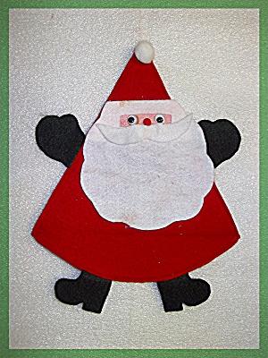 Santa Claus Decoration Red White Felt google eyes (Image1)