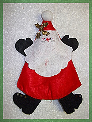 Santa Claus Decoration Red and White Felt (Image1)
