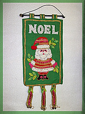 Christmas Felt Wall hanging  Hand Made Vintage Noel (Image1)