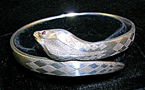 Antique Sterling  English Hallmarked Snake Bracet (Image1)