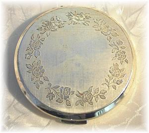 Compact Silverplate Powder STRATTON   (Image1)
