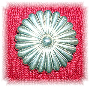 Mexican Sterling Silver Flower Brooch Pendant (Image1)