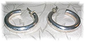 Sterling Silver Hoop Earrings (Image1)