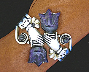 Spratling style Cuff Bracelet with Tulip amethyst . . . (Image1)