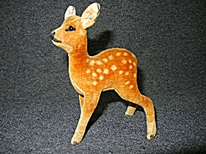 Vintage Steiff Fawn Deer spotted  4 1/2 inches  (Image1)