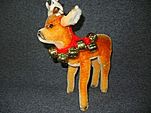 Vintage Steiff Buck Deer With Felt Antlers 9 Inches