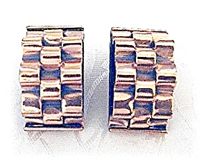 Earrings RENOIR Clip Signed Copper  (Image1)