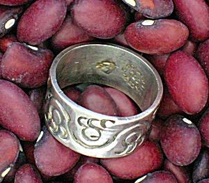 Eagle 3 Mexican Silver Ring, Artist Signed Soc