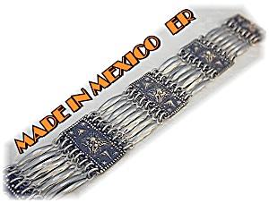 Silver Bracelet Mexico 1979s Signed ER (Image1)