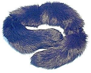 Scarf Collar Black Fur USA Vintage (Image1)