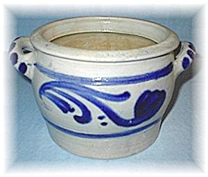 Fabulous Large Salt Glaze Butter Crock German (Image1)