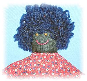 Doll Black Folk Art Circa 1930s Handmade 8 Inch (Image1)