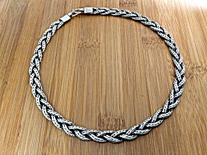 Necklace Sterling Silver  Woven Indonesia (Image1)